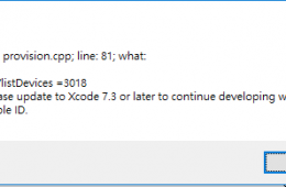 解決 Please update to Xcode 7.3 or later to continue developing with your Apple ID
